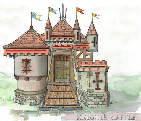 Our knights castle playhouse concept