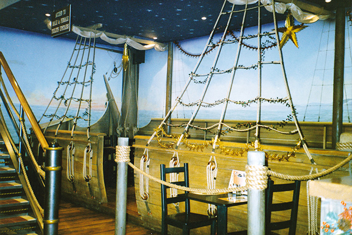 Shot of the galleon restaurant seating area