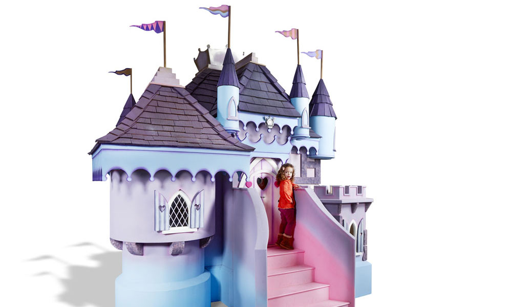 Pretty princess castle luxury outdoor wooden playhouse for Princess housse