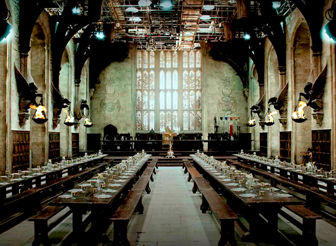 The Hogwarts Great Hall set