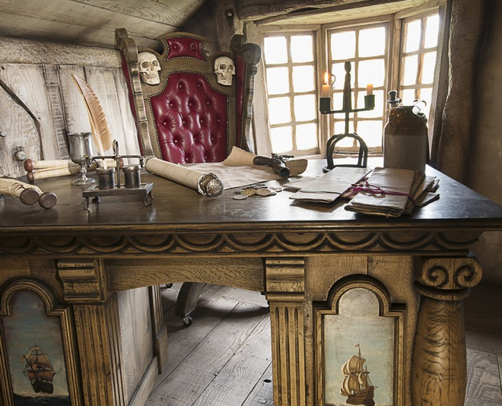 Bespoke pirate desk on Challis Island
