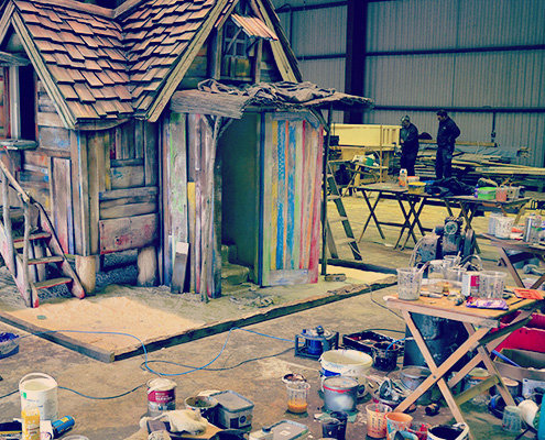 Our Wonky Tonk Playhouse in the workshop