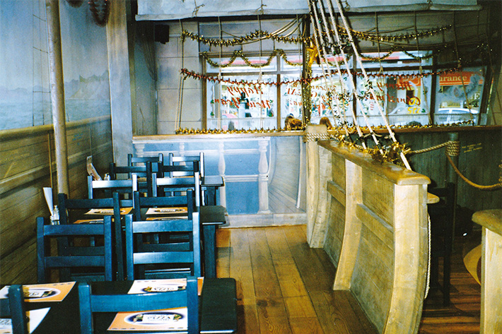 View of the seating area in the galleon