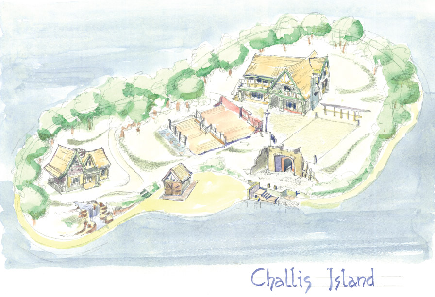 Challis Island Concept Drawing